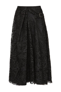 Side Buckle Lace Skirt