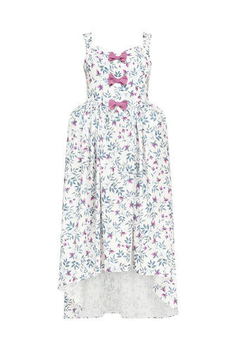 Floral Bow High Low Dress