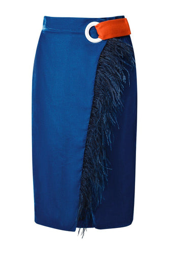 Wrap Feather Skirt