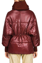 Load image into Gallery viewer, Hip Length Kimono Puffer - Burgundy