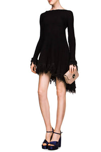 Knit Fringe Dress