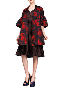 Reversible Brocade Coat