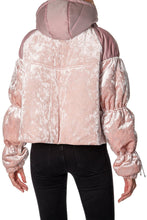Load image into Gallery viewer, Velvet Puffer - Pink