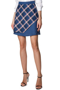 Plaid Print Skirt
