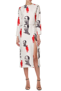 Mannequin Print Dress