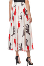 Load image into Gallery viewer, Mannequin Print Long Slit Skirt