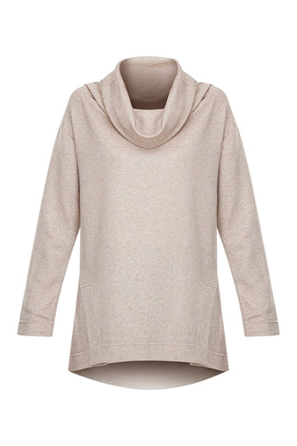 Cowl Neck Sweater - Oatmeal