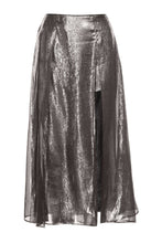 Load image into Gallery viewer, Silver Lame Skirt