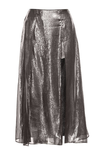 Silver Lame Skirt