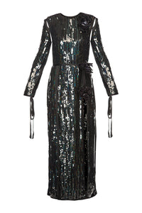 Sequin Evening Gown - Black