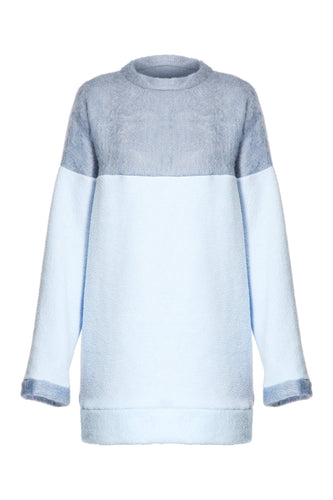 Bicolor Sweatshirt Dress