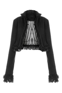Crop Fringe Jacket