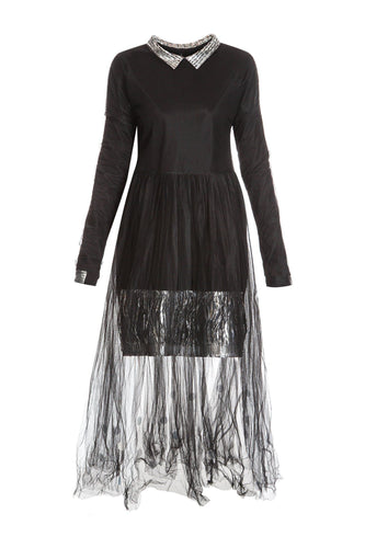 Tulle Metallic Dress