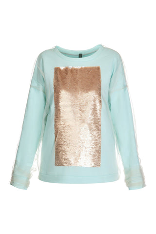 Tulle Sequin Sweatshirt