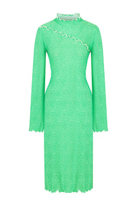 Fit and Flare Dress - Green