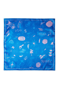 Happy Days Scarf - Blue