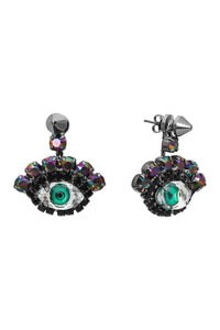 Watching You Earrings - Green