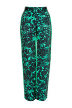 Load image into Gallery viewer, Floral Print Slim Trousers - Green