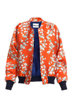 Load image into Gallery viewer, Floral Bomber Jacket