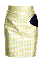 Load image into Gallery viewer, Metallic Cutout Skirt