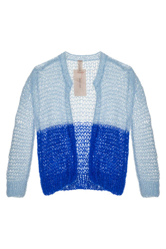 Open Weave Cardigan - Blue