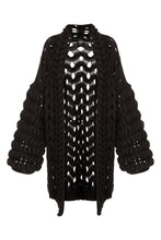 Load image into Gallery viewer, Open Weave Sweater Jacket