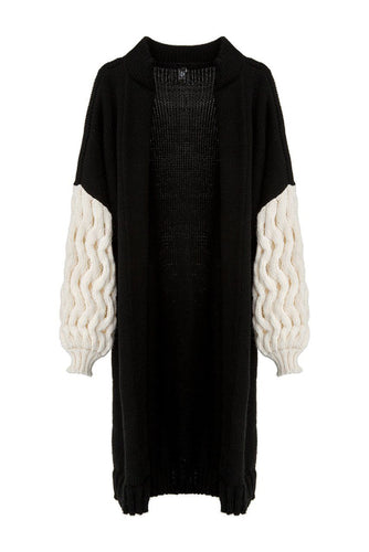 Zigzag Weave Sweater Coat