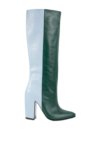 Two Tone Knee High Boots