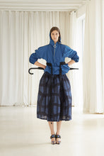 Load image into Gallery viewer, Warped Plaid Skirt - Blue