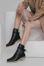 Load image into Gallery viewer, Ankle Tie Boots - Black