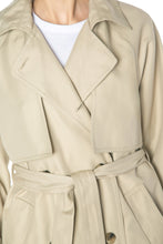 Load image into Gallery viewer, Double Breasted Trench Coat - Beige