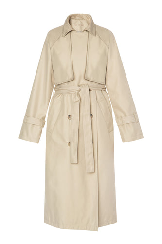 Double Breasted Trench Coat - Beige