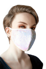 Load image into Gallery viewer, Sequin Face Mask - Pink (Filter Pocket)