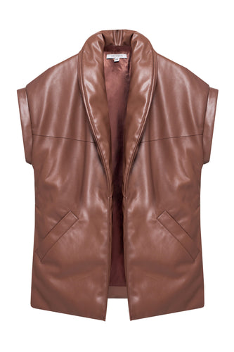 Eco Leather Padded Vest