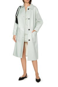 Eco Leather Raincoat