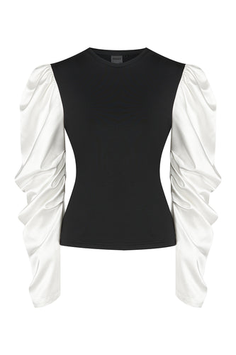 Silk Sleeve Fitted Top