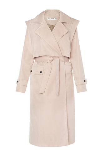 Vest Overlay Trench Coat