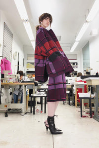 Plaid Cocoon Coat