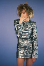 Load image into Gallery viewer, Metallic Mini Dress