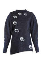 Load image into Gallery viewer, Eyes Print Sweatshirt - Navy