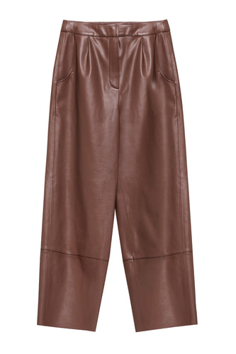 Eco Leather Pleated Pants