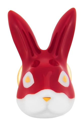 Masked Rabbit Pin - Red