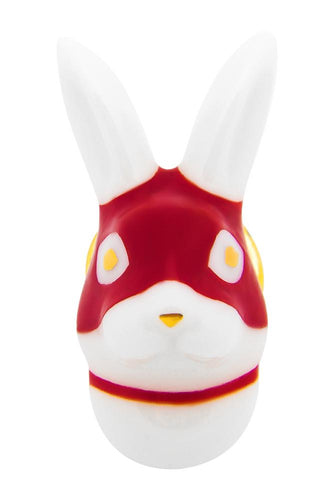 Masked Rabbit Collar Pin - Red
