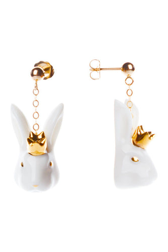 Small Rabbit Drop Earrings