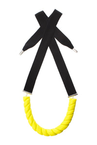 Twist Necklace - Yellow/Black