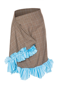 Menswear Wrap Skirt