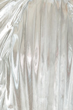 Load image into Gallery viewer, Pleated Metallic Cape Dress