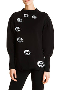 Evil Eye Sweatshirt - Black
