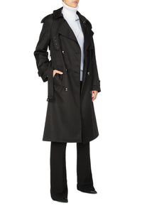 Sleepless Night Trench Coat - Black