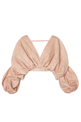 Cocoon Crop Top - Peach
